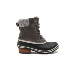 Sorel Slimpack II Lace Leather Wool Fleece Boot